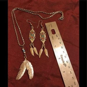 Bundled SS necklace/matching earrings